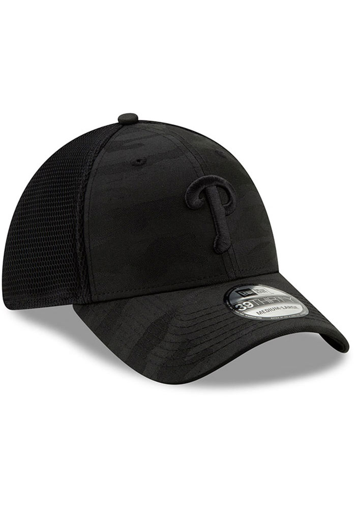 quality design 17486 fa78b New Era Philadelphia Phillies Mens Black Camo Front Neo 39THIRTY Flex Hat -  Image 2