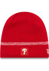 New Era Philadelphia Phillies Red 2019 Clubhouse Knit Hat