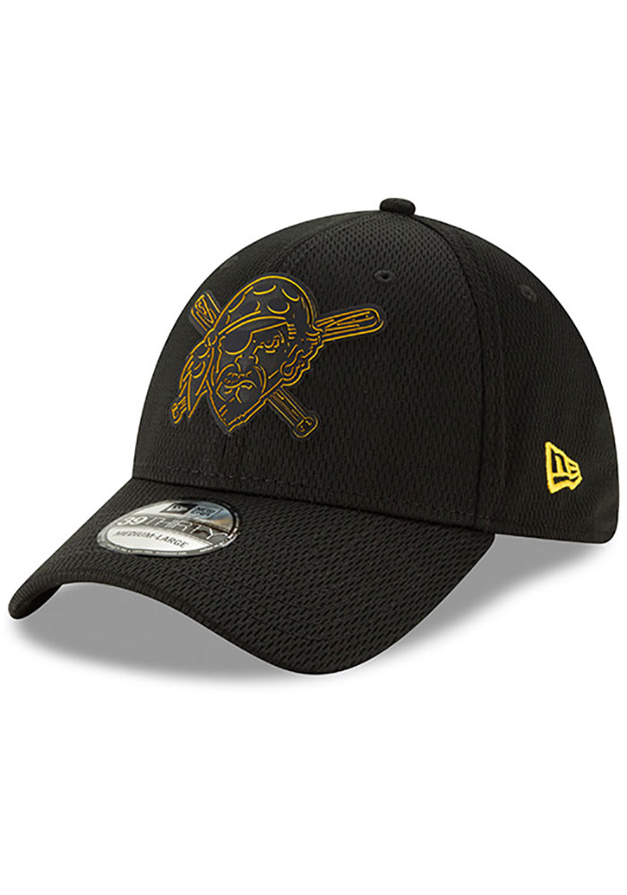 New Era Pittsburgh Pirates Mens Black 2019 Clubhouse 39THIRTY Flex Hat - Image 1