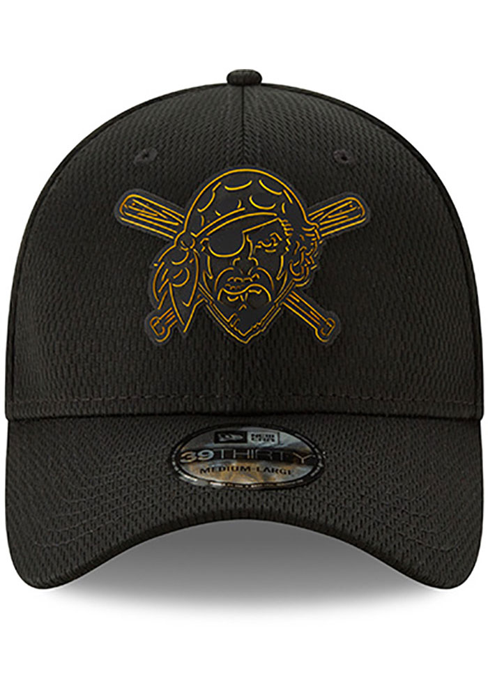 New Era Pittsburgh Pirates Mens Black 2019 Clubhouse 39THIRTY Flex Hat - Image 3