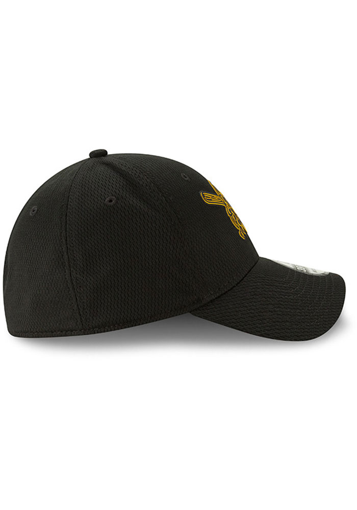 New Era Pittsburgh Pirates Mens Black 2019 Clubhouse 39THIRTY Flex Hat - Image 6
