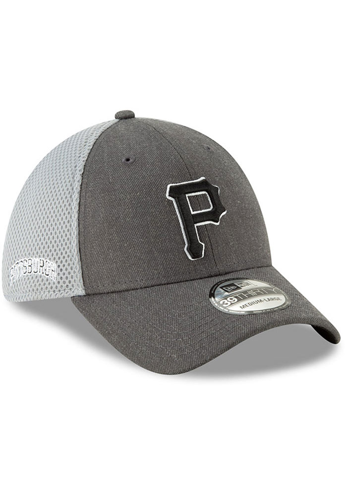 New Era Pittsburgh Pirates Mens Grey Heather Front Neo 39THIRTY Flex Hat - Image 2