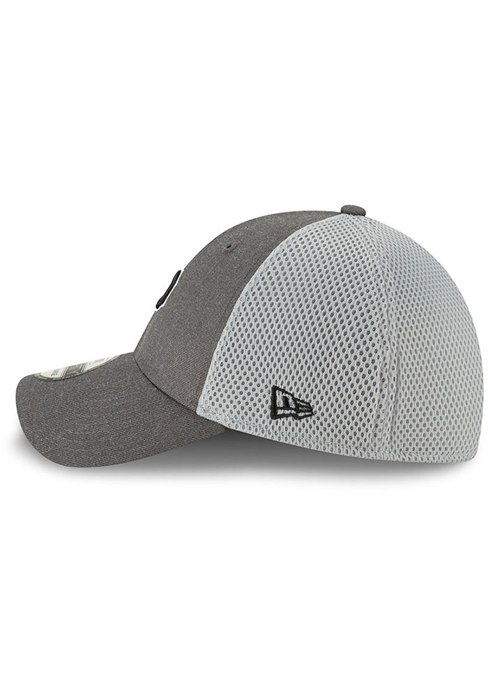 New Era Pittsburgh Pirates Mens Grey Heather Front Neo 39THIRTY Flex Hat - Image 4