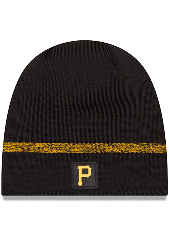 New Era Pittsburgh Pirates Black 2019 Clubhouse Mens Knit Hat - Image 1