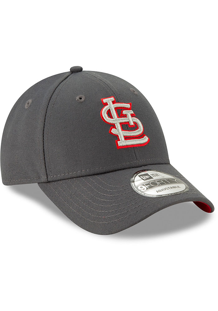 New Era St Louis Cardinals Grey JR The League 9FORTY Youth Adjustable Hat - Image 2