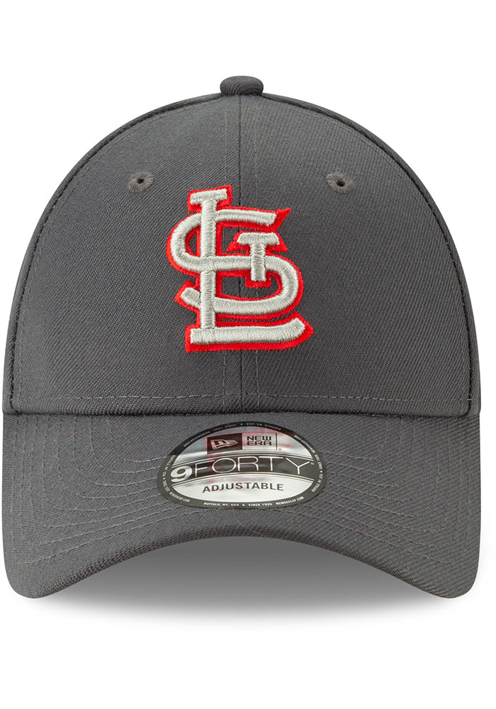 New Era St Louis Cardinals Grey JR The League 9FORTY Youth Adjustable Hat - Image 3