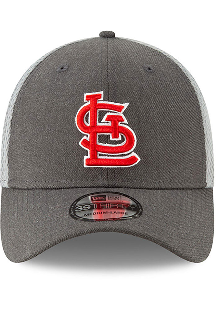 New Era St Louis Cardinals Grey Jr Heather Front Neo 39THIRTY Youth Flex Hat - Image 3