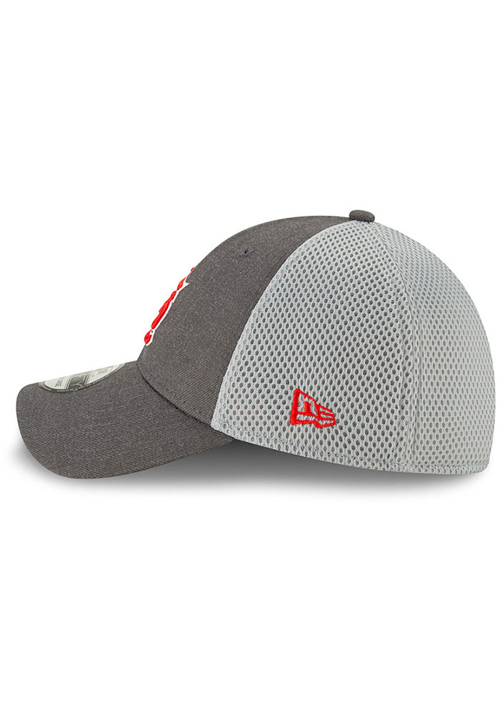 New Era St Louis Cardinals Grey Jr Heather Front Neo 39THIRTY Youth Flex Hat - Image 4