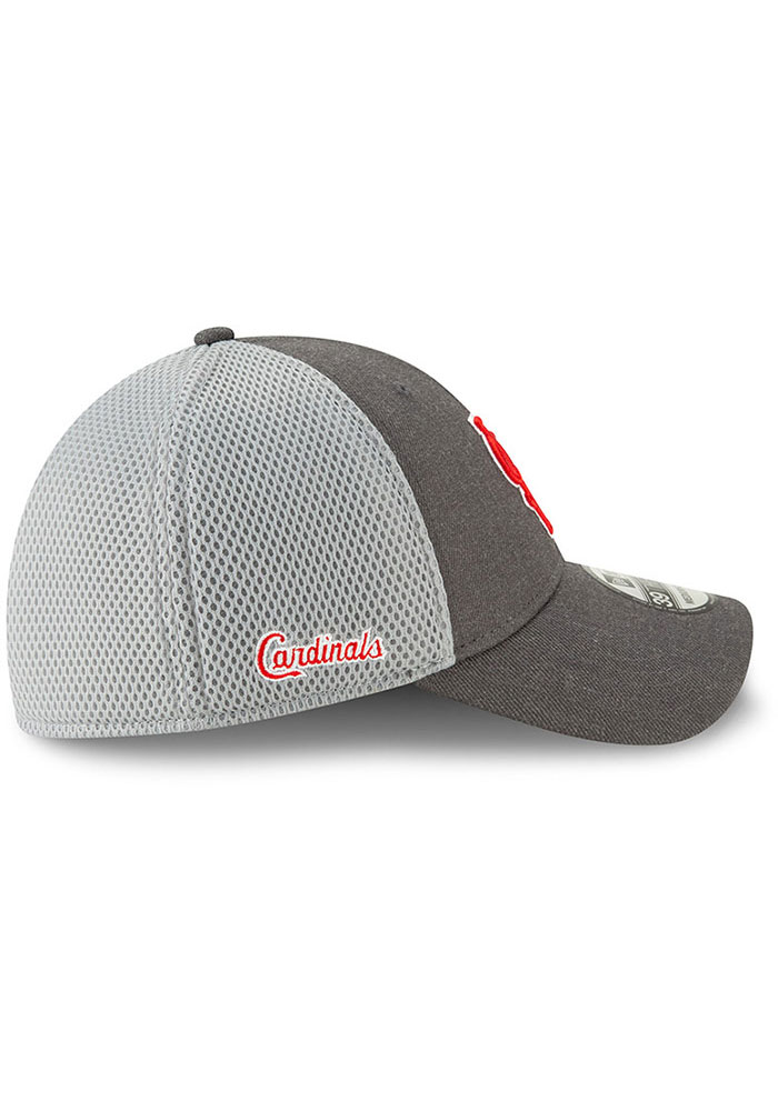 New Era St Louis Cardinals Grey Jr Heather Front Neo 39THIRTY Youth Flex Hat - Image 6