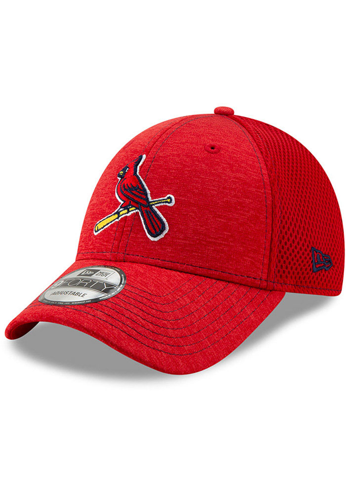 New Era St Louis Cardinals NE Team Tred 9FORTY Adjustable Hat - Red - Image 1