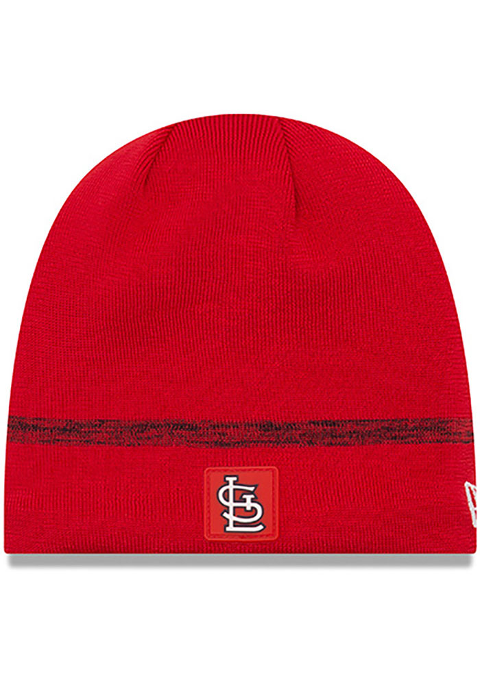 New Era St Louis Cardinals Red 2019 Clubhouse Mens Knit Hat - Image 1