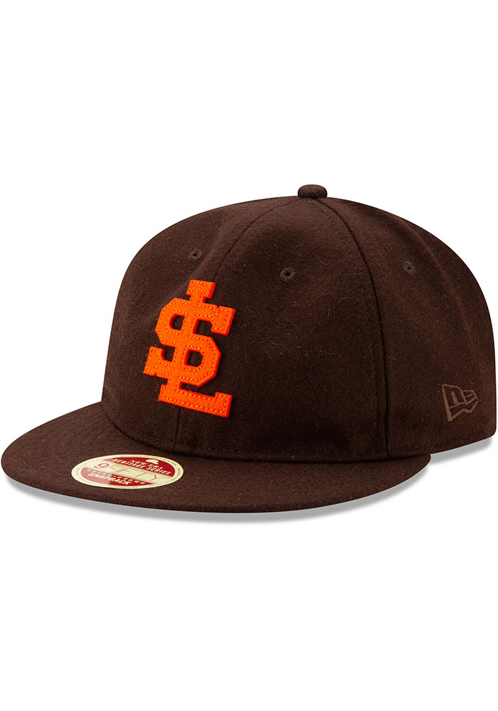 New Era St Louis Browns Brown Heritage Series Authentics 1939 Retro-Crown 9FIFTY Mens Snapback Hat - Image 1