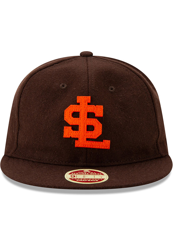 New Era St Louis Browns Brown Heritage Series Authentics 1939 Retro-Crown 9FIFTY Mens Snapback Hat - Image 3