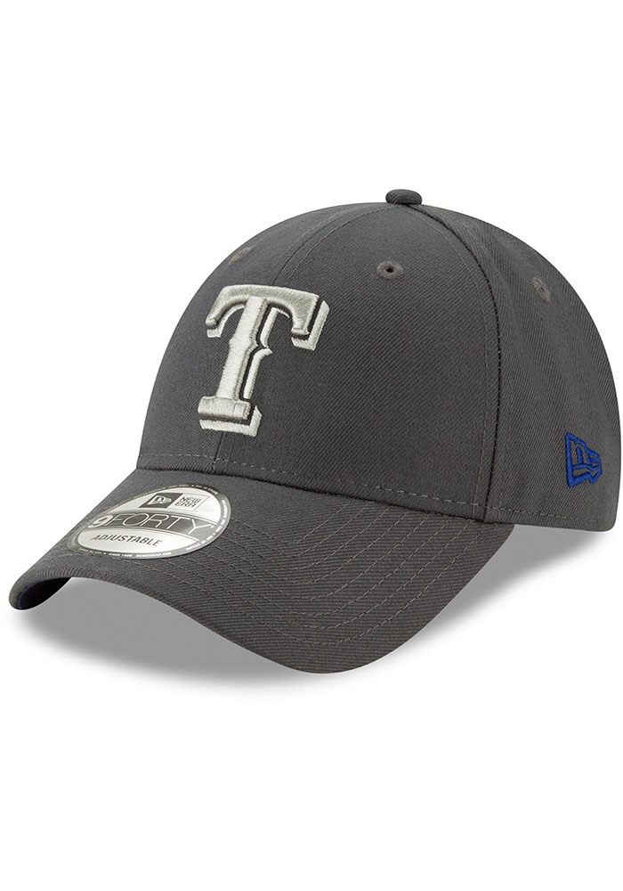 New Era Texas Rangers Grey JR The League 9FORTY Youth Adjustable Hat - Image 1