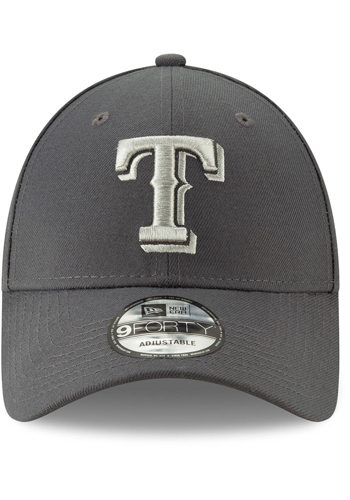 New Era Texas Rangers Grey JR The League 9FORTY Youth Adjustable Hat - Image 3