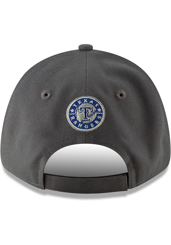New Era Texas Rangers Grey JR The League 9FORTY Youth Adjustable Hat - Image 5