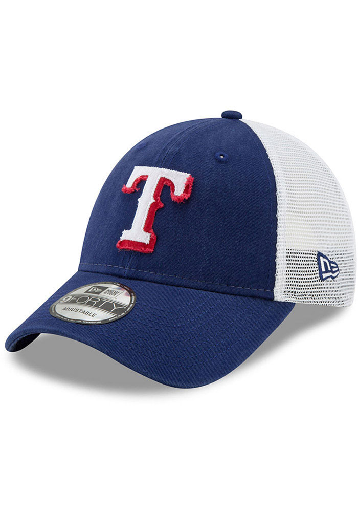 New Era Texas Rangers Blue JR Team Truckered 9FORTY Youth Adjustable Hat - Image 1