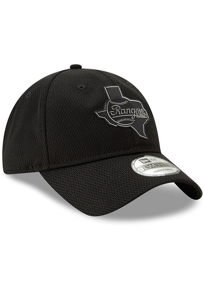 New Era Texas Rangers 2019 Clubhouse 9TWENTY Adjustable Hat - Black - Image 2