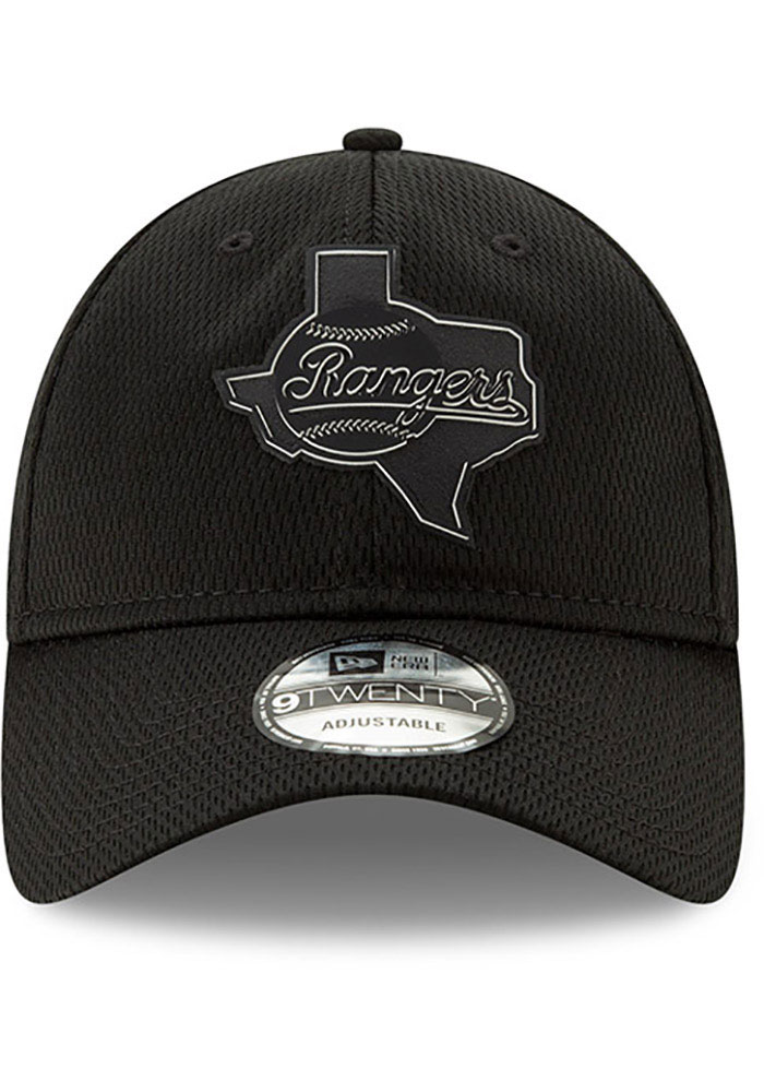 New Era Texas Rangers 2019 Clubhouse 9TWENTY Adjustable Hat - Black - Image 3