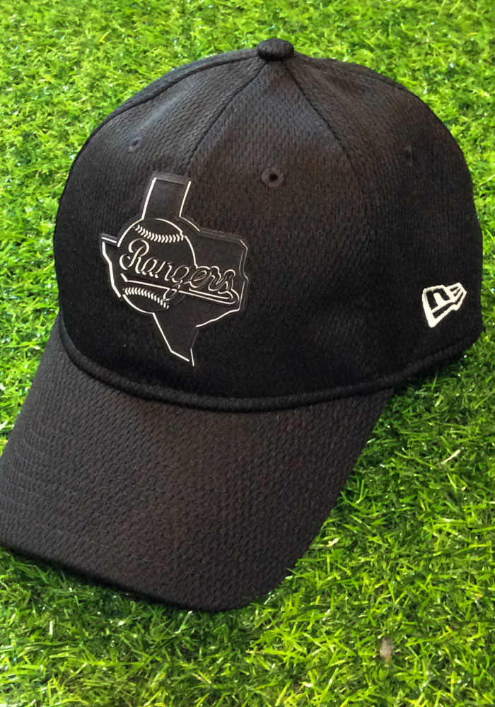 New Era Texas Rangers 2019 Clubhouse 9TWENTY Adjustable Hat - Black - Image 7