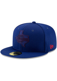 Texas Rangers New Era Blue 2019 Clubhouse 59FIFTY Fitted Hat