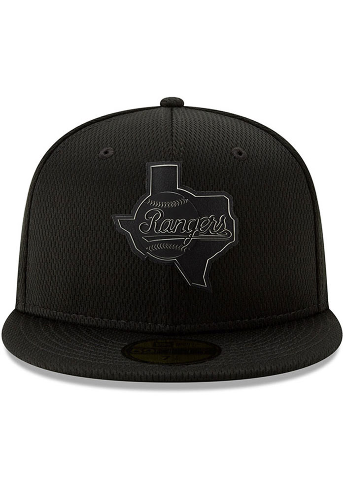 New Era Texas Rangers Mens Black 2019 Clubhouse 59FIFTY Fitted Hat - Image 3