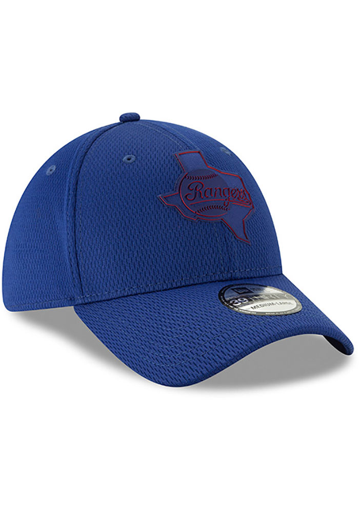 New Era Texas Rangers Mens Red 2019 Clubhouse 39THIRTY Flex Hat - Image 2