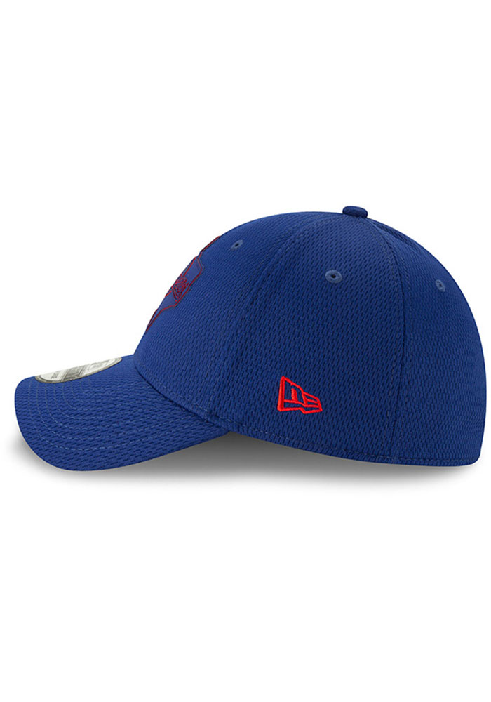 New Era Texas Rangers Mens Red 2019 Clubhouse 39THIRTY Flex Hat - Image 4