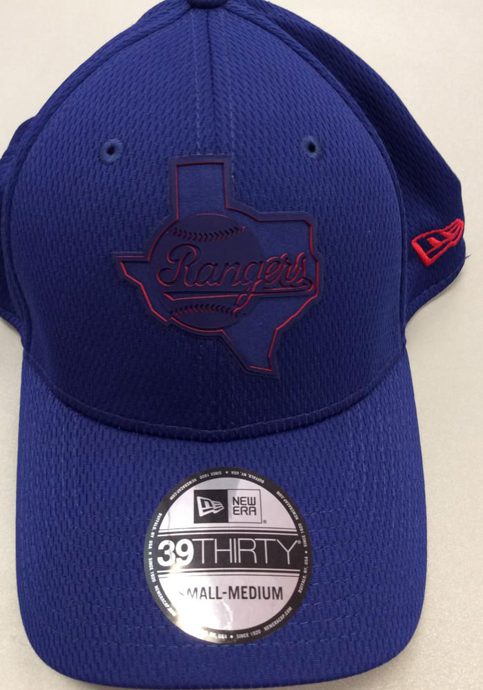 New Era Texas Rangers Mens Red 2019 Clubhouse 39THIRTY Flex Hat - Image 7