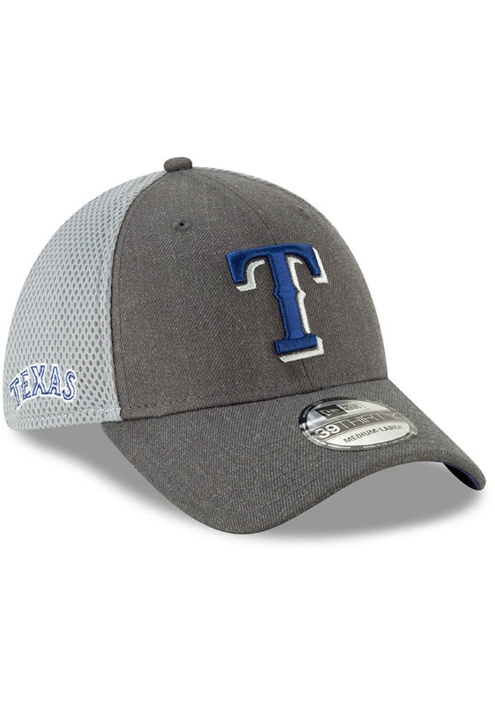 New Era Texas Rangers Mens Grey Heather Front Neo 39THIRTY Flex Hat - Image 2