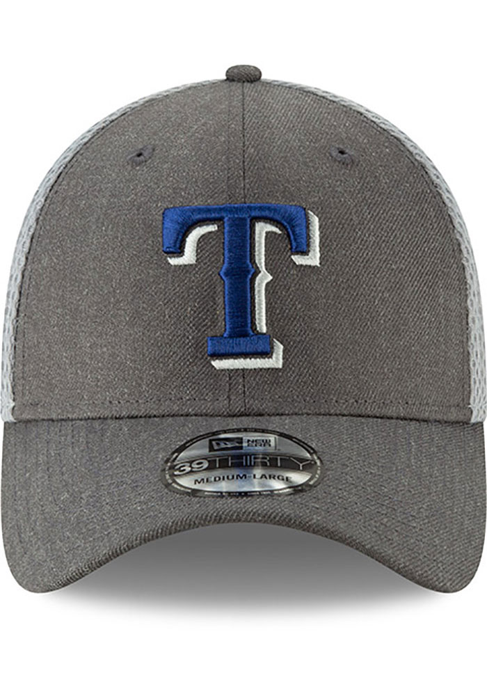 New Era Texas Rangers Mens Grey Heather Front Neo 39THIRTY Flex Hat - Image 3