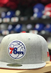Philadelphia 76ers New Era Grey Heather Hype 59FIFTY Fitted Hat