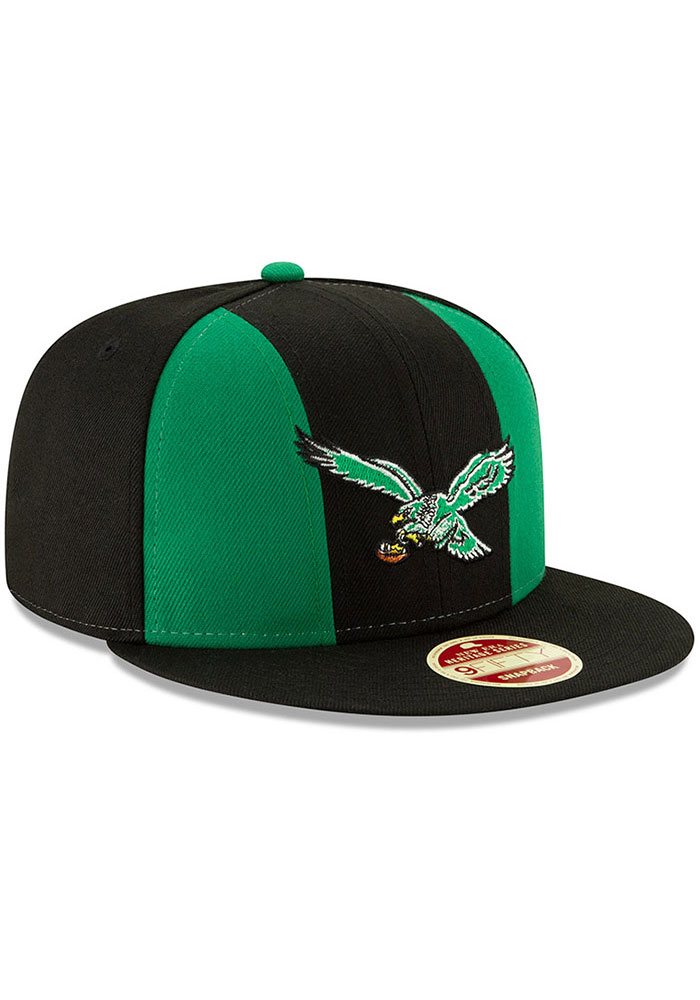 New Era Philadelphia Eagles Black Retro Paneled Team Pick 9FIFTY Mens Snapback Hat - Image 2