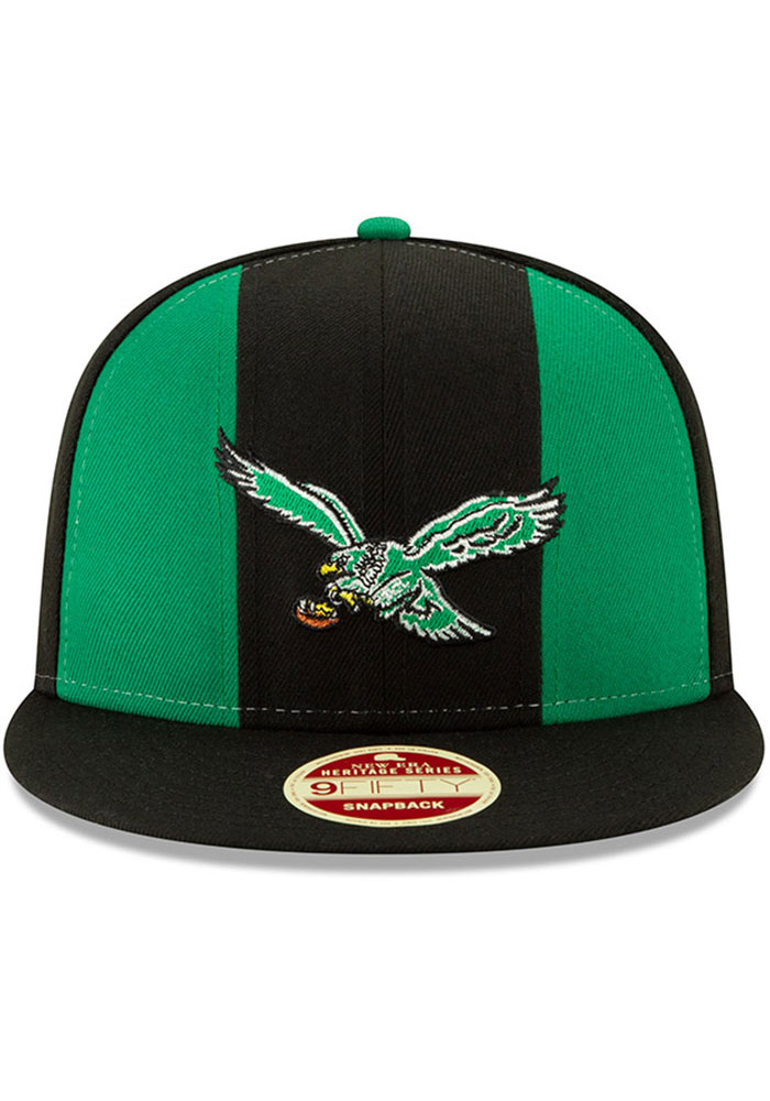 New Era Philadelphia Eagles Black Retro Paneled Team Pick 9FIFTY Mens Snapback Hat - Image 3