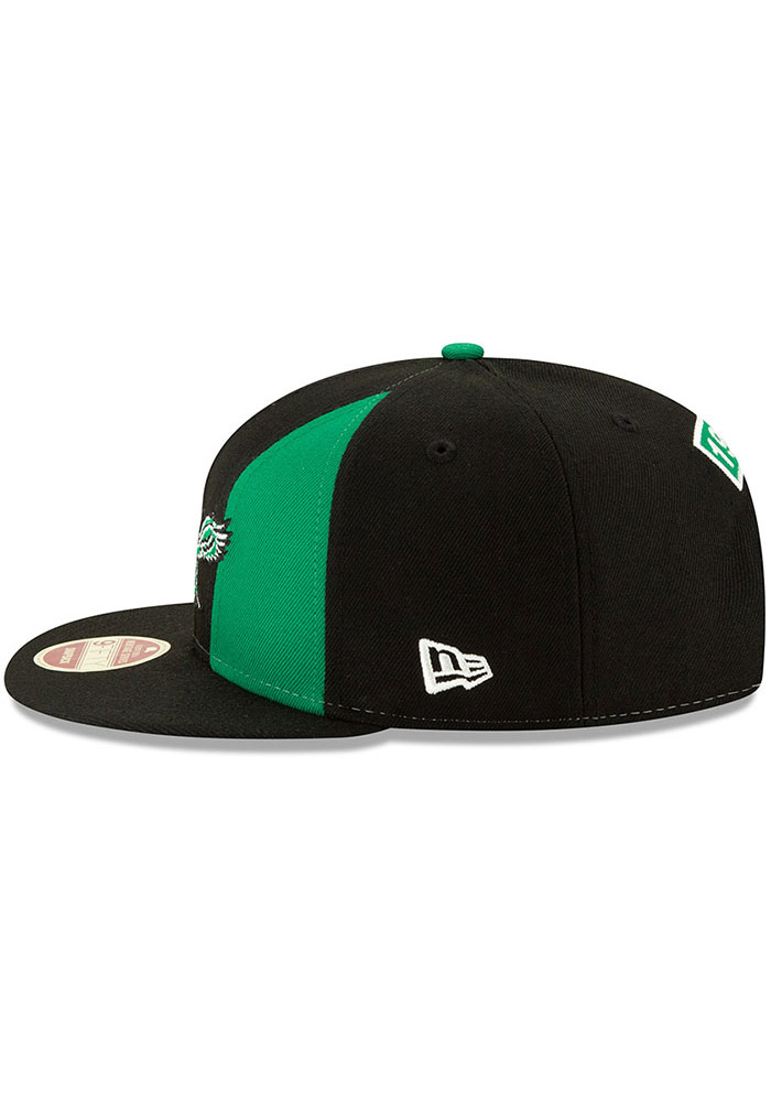 New Era Philadelphia Eagles Black Retro Paneled Team Pick 9FIFTY Mens Snapback Hat - Image 4
