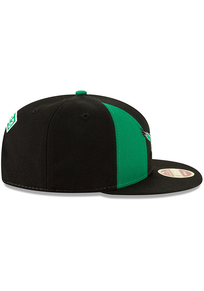 New Era Philadelphia Eagles Black Retro Paneled Team Pick 9FIFTY Mens Snapback Hat - Image 6