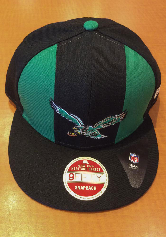 New Era Philadelphia Eagles Black Retro Paneled Team Pick 9FIFTY Mens Snapback Hat - Image 7