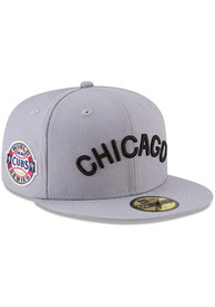 Chicago Cubs New Era Grey 1907 World Series Side Patch 59FIFTY Fitted Hat