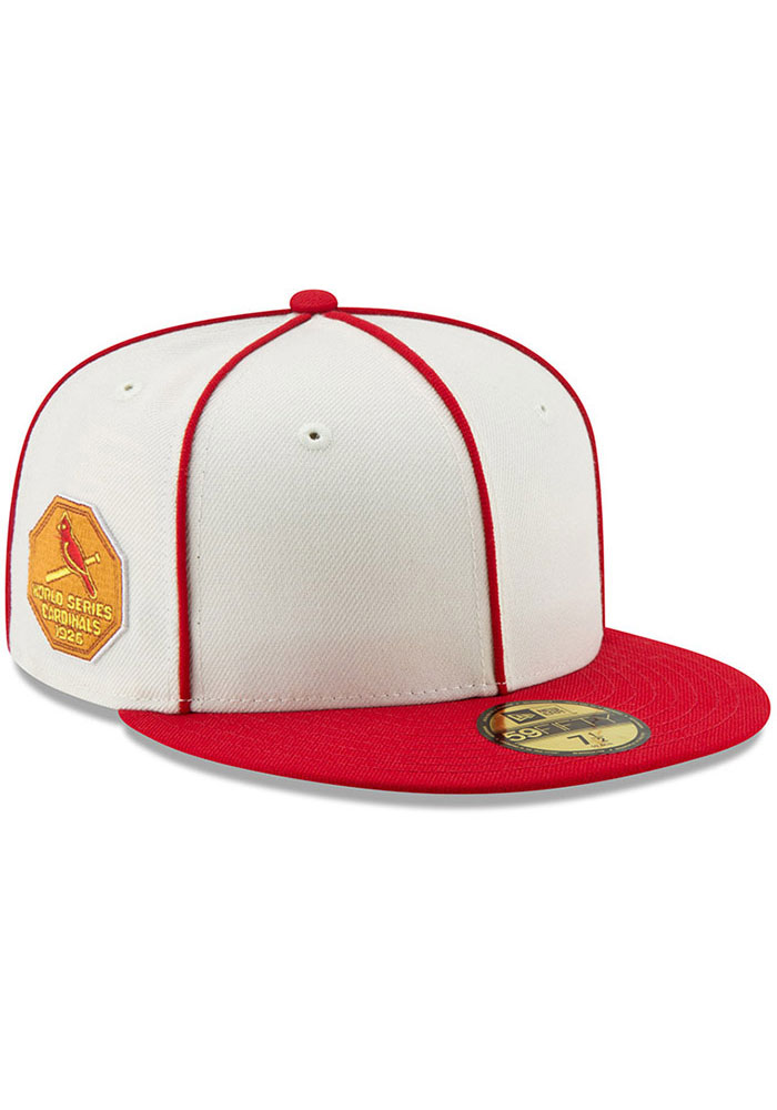 New Era St Louis Cardinals Mens White 1926 World Series Side Patch 59FIFTY Fitted Hat - Image 1