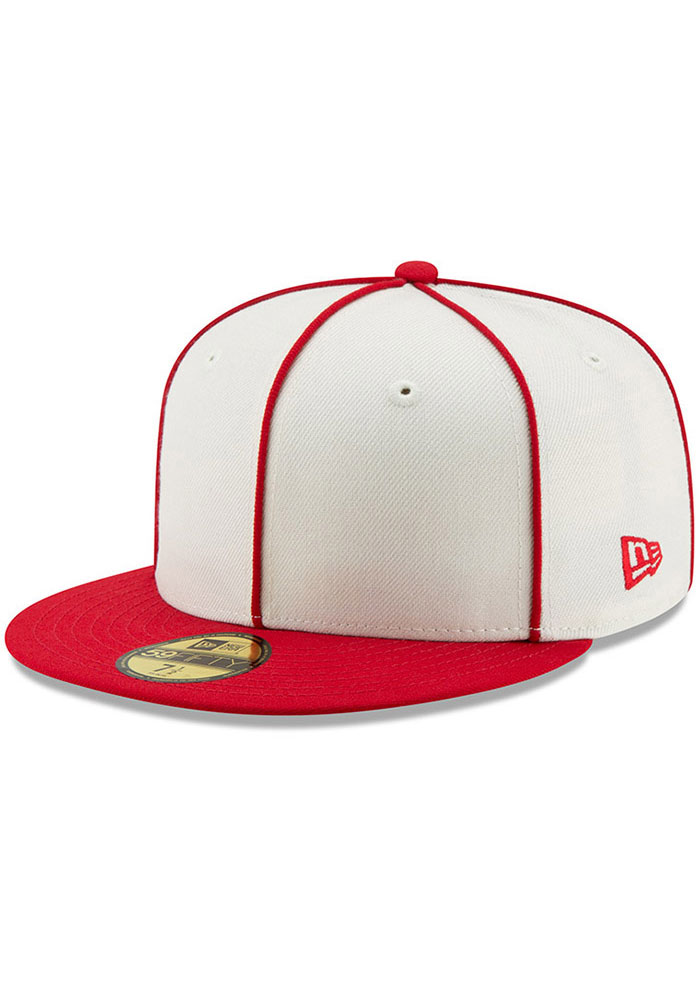 New Era St Louis Cardinals Mens White 1926 World Series Side Patch 59FIFTY Fitted Hat - Image 2