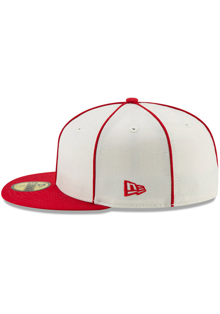 New Era St Louis Cardinals Mens White 1926 World Series Side Patch 59FIFTY Fitted Hat - Image 4