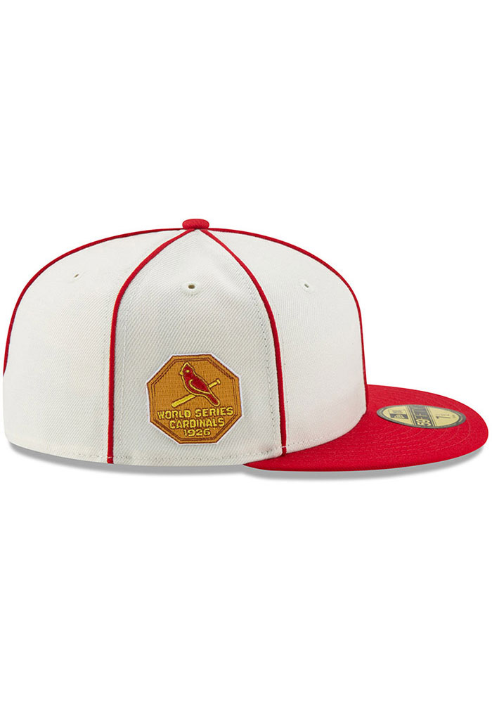 New Era St Louis Cardinals Mens White 1926 World Series Side Patch 59FIFTY Fitted Hat - Image 6