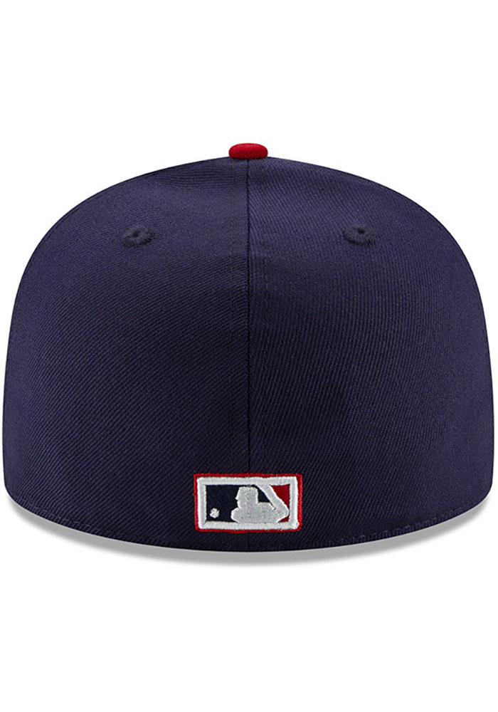 New Era St Louis Cardinals Mens Navy Blue 1942 World Series Side Patch 59FIFTY Fitted Hat - Image 5