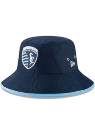 New Era Sporting Kansas City Navy Blue JR Hex Team Youth Bucket Hat