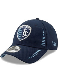 New Era Sporting Kansas City Navy Blue JR NE Speed DE 9FORTY Youth Adjustable Hat