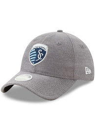 New Era Sporting Kansas City Womens Navy Blue Linen Leap 9TWENTY Adjustable Hat