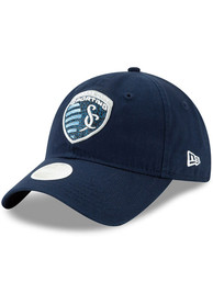 New Era Sporting Kansas City Womens Navy Blue Team Glisten 9TWENTY Adjustable Hat