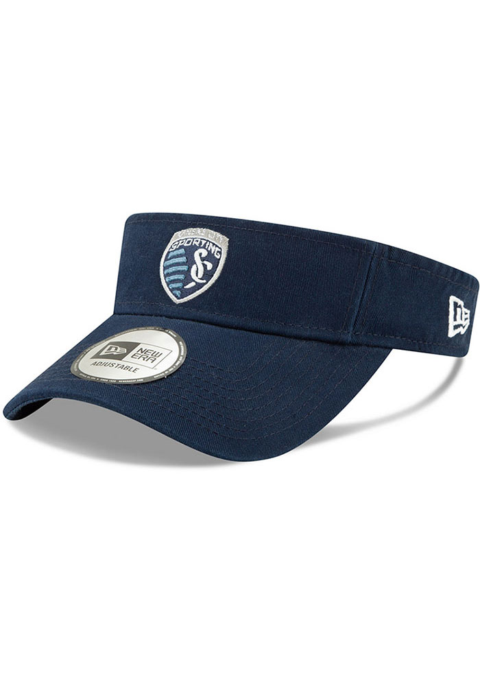 New Era Sporting Kansas City Mens Navy Blue Dugout Redux 2 Adjustable Visor - Image 1