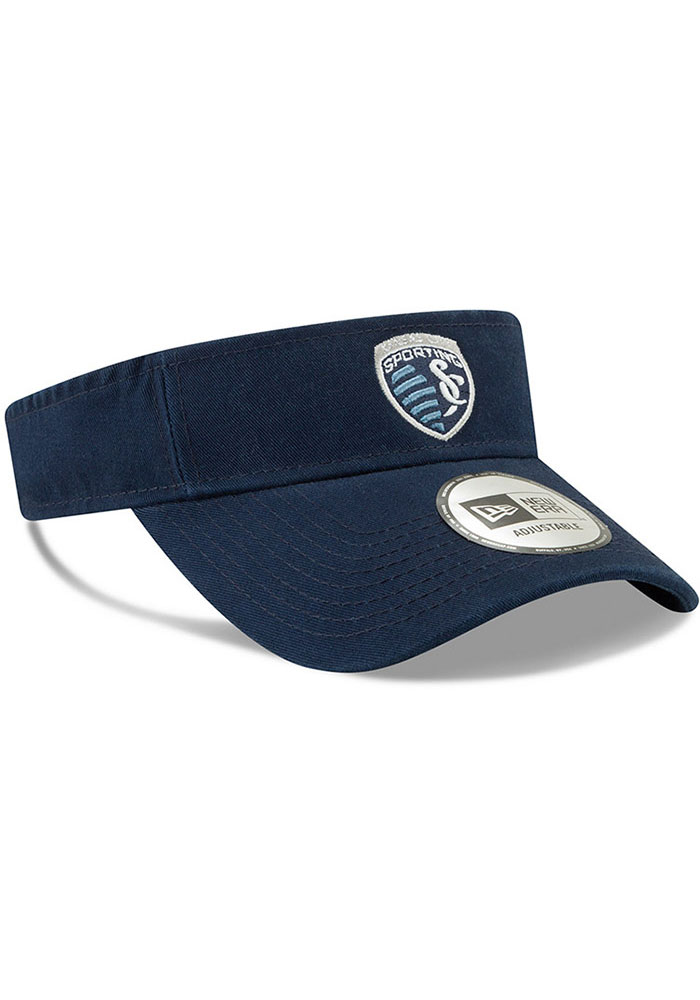 New Era Sporting Kansas City Mens Navy Blue Dugout Redux 2 Adjustable Visor - Image 2