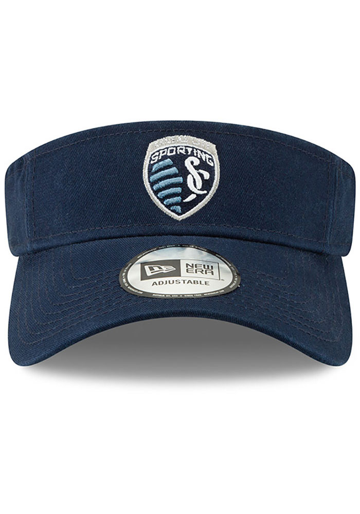 New Era Sporting Kansas City Mens Navy Blue Dugout Redux 2 Adjustable Visor - Image 3